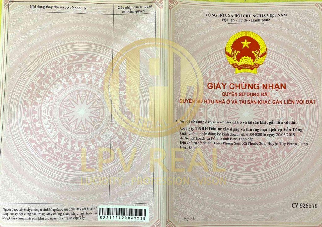 giấy chứng nhận quyền sử dụng đất 1
