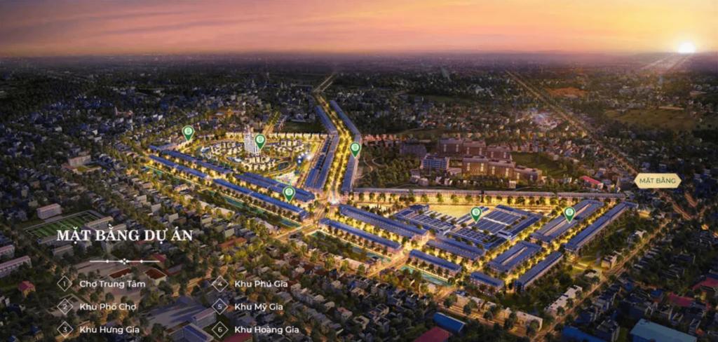 5 phân khu dự án hưng định city