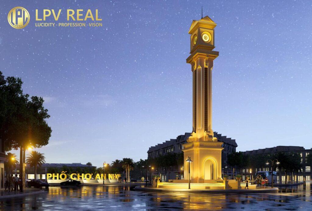 phối cảnh tháp đồng hồ hưng định city